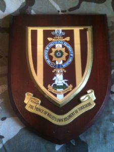 POW Prince of Wales Own Regiment of Yorkshire Military Wall Plaque Shield